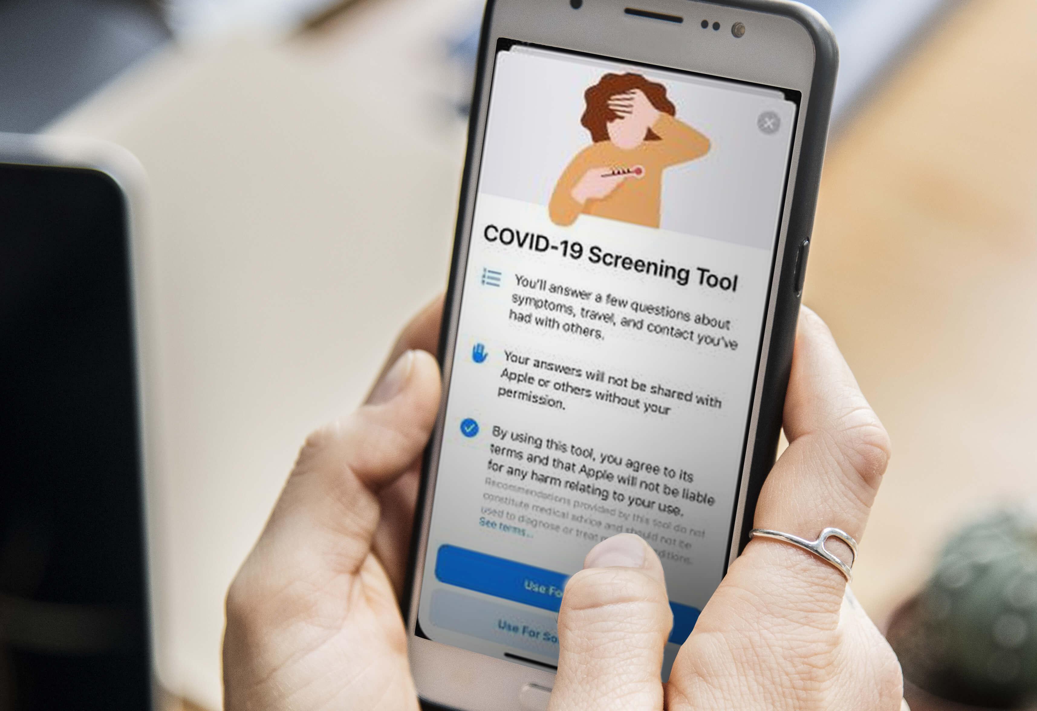 aplicación móvil covid-19